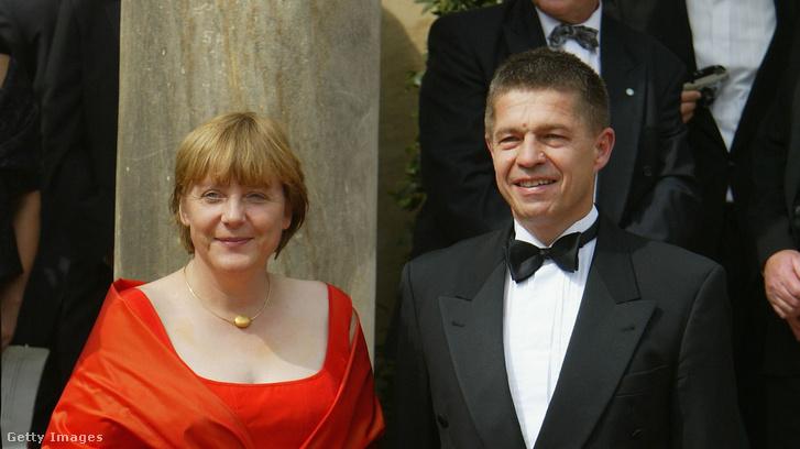 Angela Merkel és Joachim Sauser