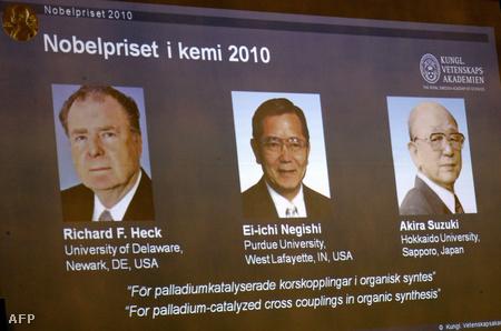 Egy amerikai és két japán kapta a kémiai Nobel-díjat