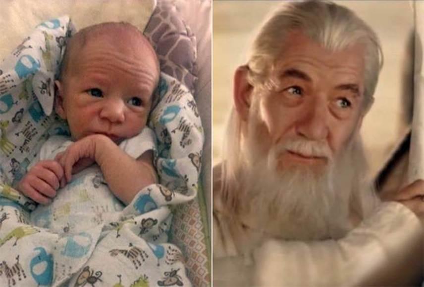 Vajon ha ez a baba megöregszik, akkor is ennyire fog hasonlítani Ian McKellanra?