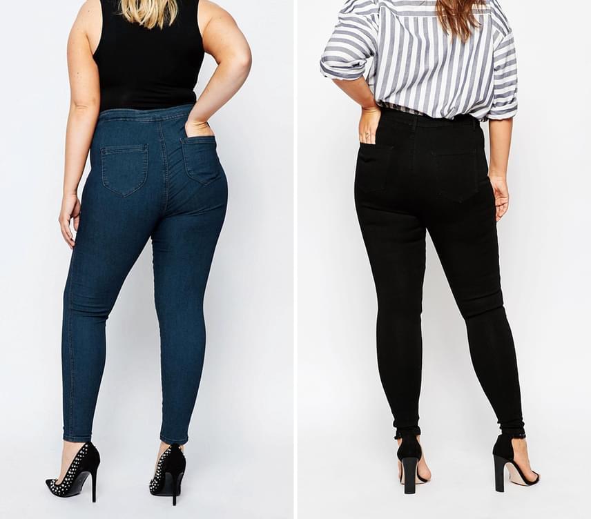 Körte alakú, azaz fenékben szélesebb hölgyeknek ajánlott, hogy sötétebb nadrágokat válasszanak, amelyek optikailag karcsúsítják a problémás területeket. Legszerencsésebb ilyen szempontból a fekete és a sötétkék szín, sőt, a középkék árnyalatok is rendben vannak, ám a feltűnő, egybefüggően fehér, minta nélküli nadrágok korántsem ajánlottak, ugyanis nagyobbnak mutatják a felületeket.