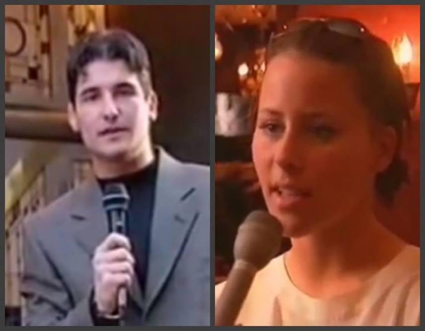 A fiatal Hajdú Péter és Tornóczky Anita - utóbbi a fotó mellett köszöntötte fel a 41 éves műsorvezetőt.