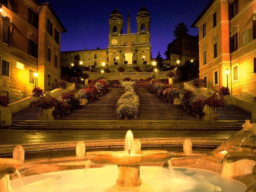 A második helyet Róma szerezte meg, egészen pontosan a Trinita dei Monti nevű templom.