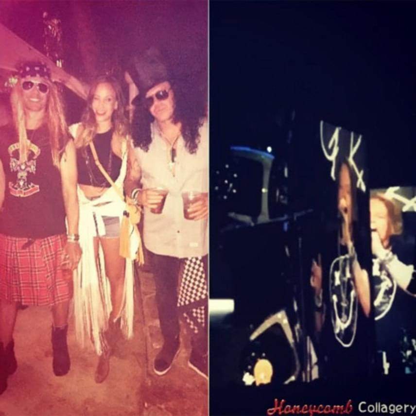 Vajna Timi asti fotója alapján a Coachella Fesztiválon partizott a Guns N' Roses együttes két rajongójával.