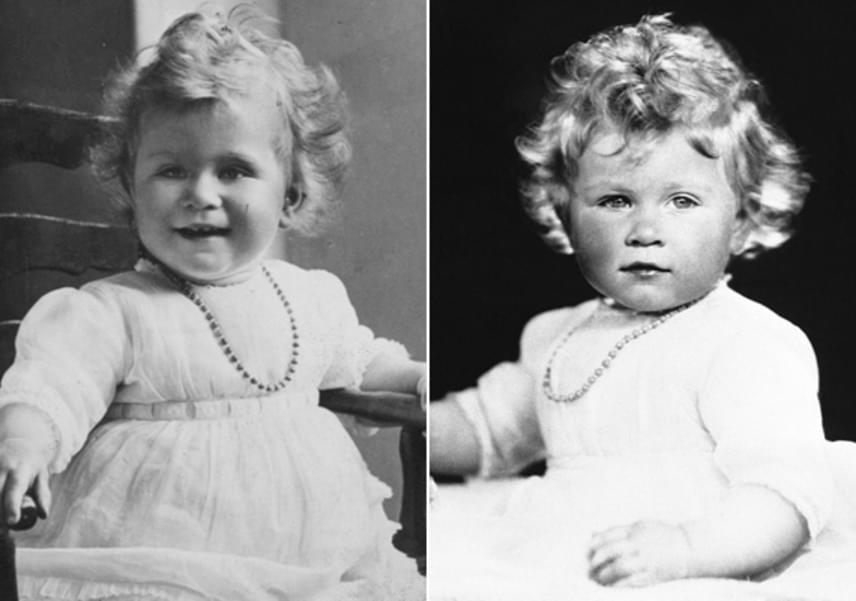 Tündéri kislány volt a britek hőn szeretett uralkodónője, bár a szemtanúk szerint nem volt könnyű lefotózni: folyton a nyakláncát rágcsálta.
