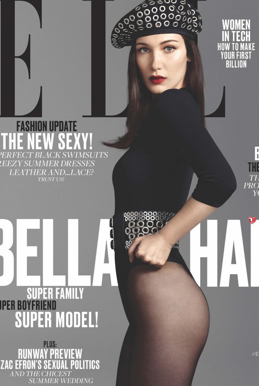 Photoshop-baki áltozata lett Bella Hadid, akinek fenékvonalát alaposan eltüntették az ELLE magazin retusőrei. A címlapfotón úgy tűnik, mintha csak combja lenne a 19 éves szépségnek.