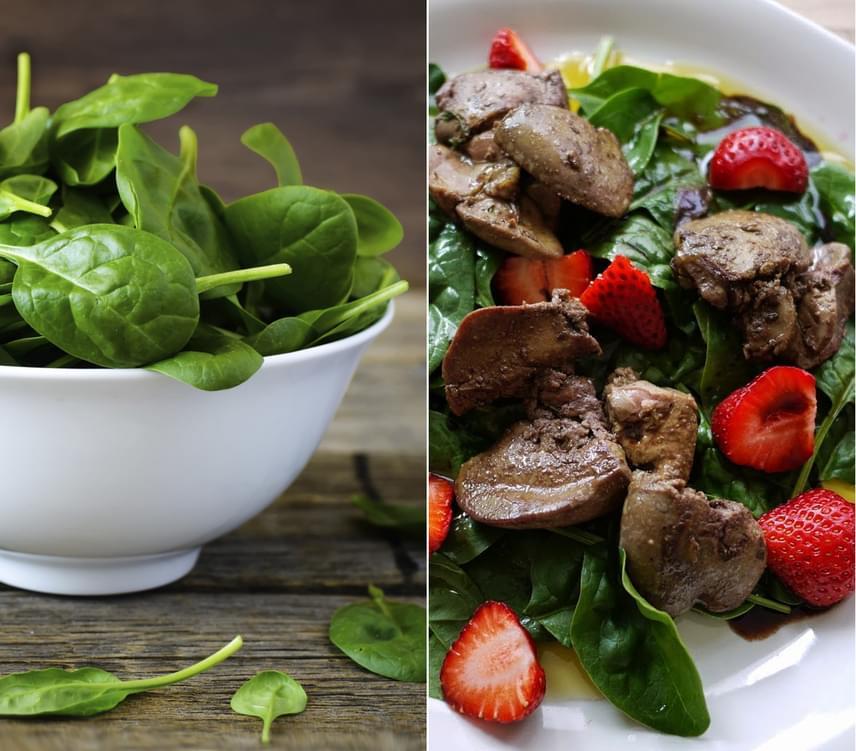 Az ásványi anyagokban, például vasban, magnéziumban, káliumban, kalciumban és foszforban gazdag spenótot már régen nem csak főzelék formájában divatos enni. A nyers spenót tápértéke szinte hihetetlen, miközben csak 23 kalóriát tartalmaz, így érdemes minél többször fogyasztani. Készíthetsz belőle salátát ebédre, vagy 10 deka eperrel és egy banánnal fantasztikus reggeli turmixot üthetsz össze percek alatt.
