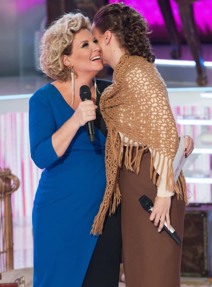 A Nagy Duett két várandós sztárja: a női műsorvezető és Péter Szabó Szilvia, aki Pachmann Péterrel végül megnyerte a 2016-os szériát.