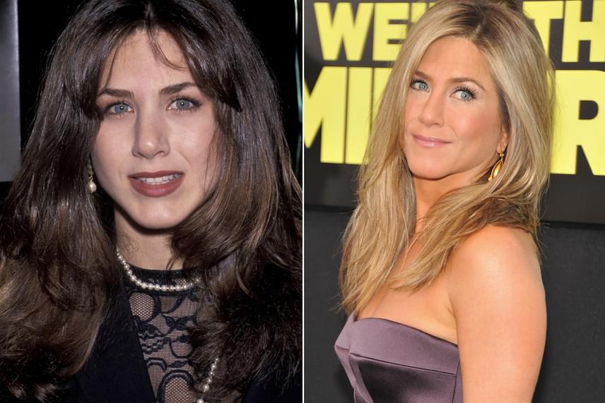 Jennifer Anistont még a Jóbarátok idején láthattuk szélesebb orrával, azonban hamar úgy döntött, hogy plasztikai sebészek segítségével változtat rajta. Mennyit számít egy picike módosítás is!