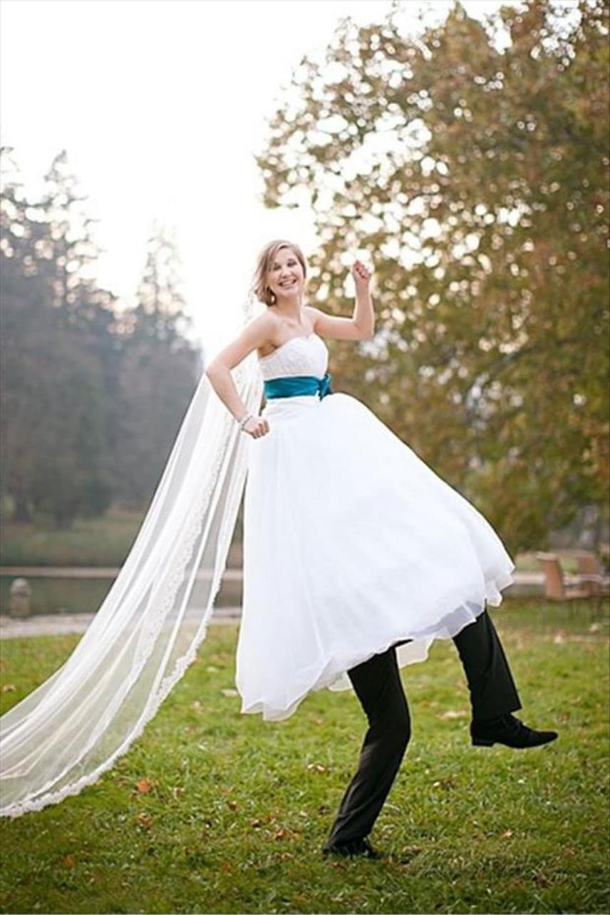 Különösen magas a menyasszony - vagy mégsem?