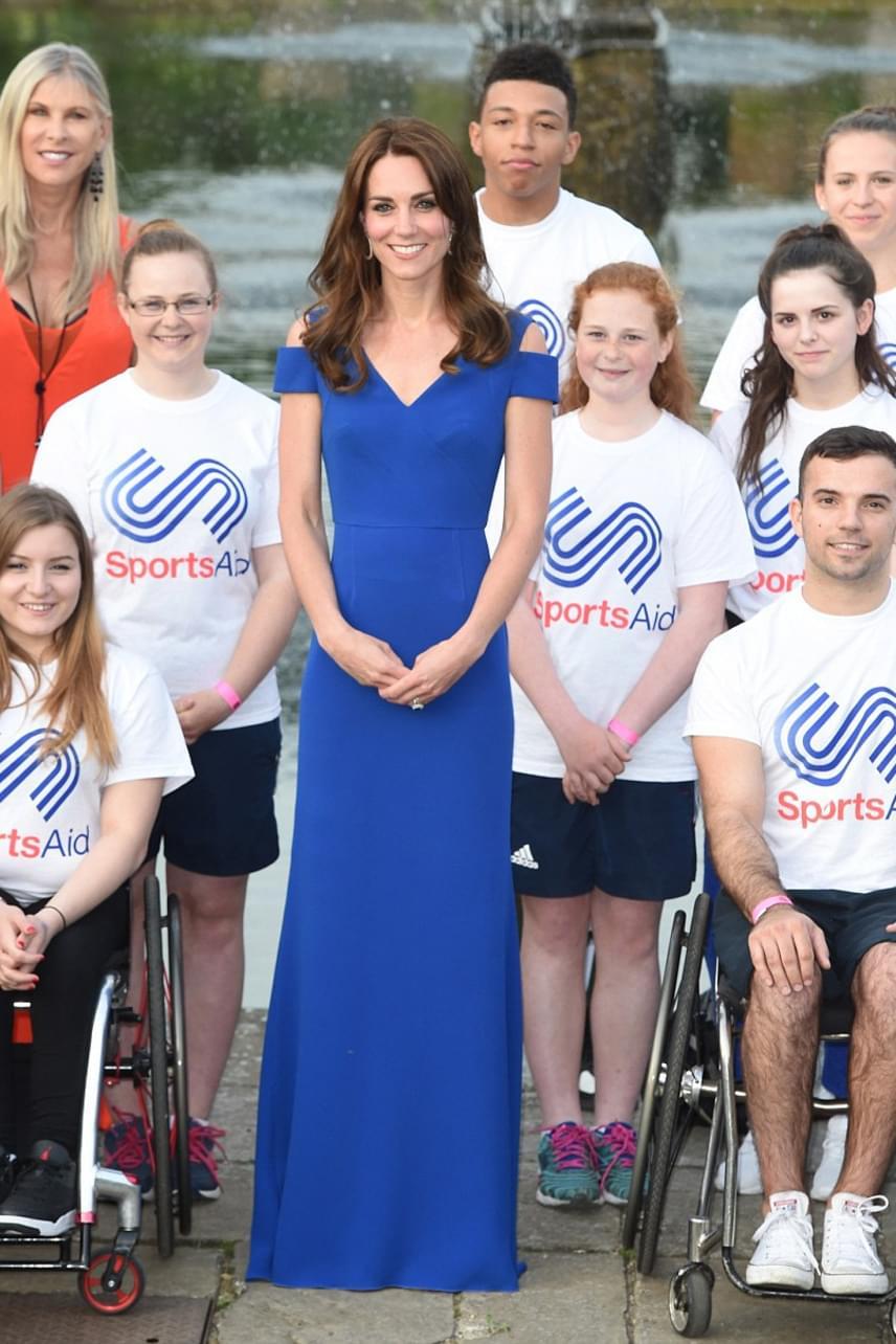 Katalin hercegné azokkal a fiatalokkal is találkozott, akik kemény munkájuknak köszönhetően idén részt vehetnek majd a riói olimpián.