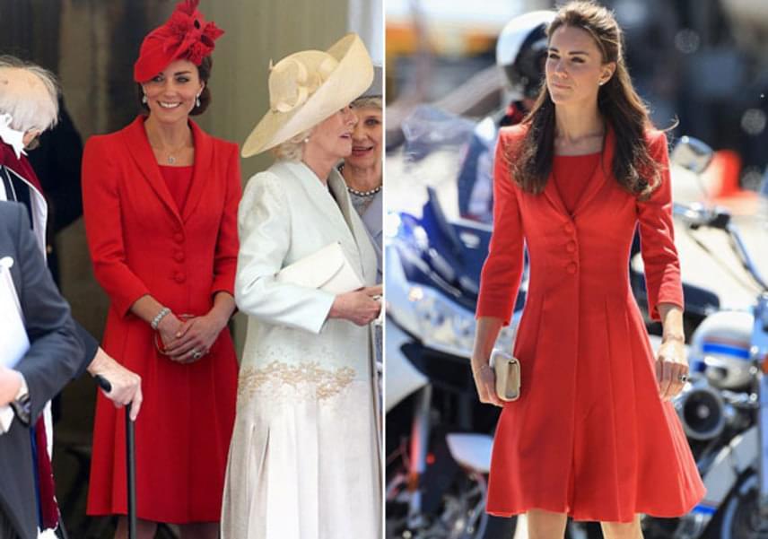 A két fotó között öt év telt el. Míg a bal oldali II. Erzsébet születésnapján, addig a jobb oldali 2011-ben, a kanadai calgaryi állatkert látogatásán készült.