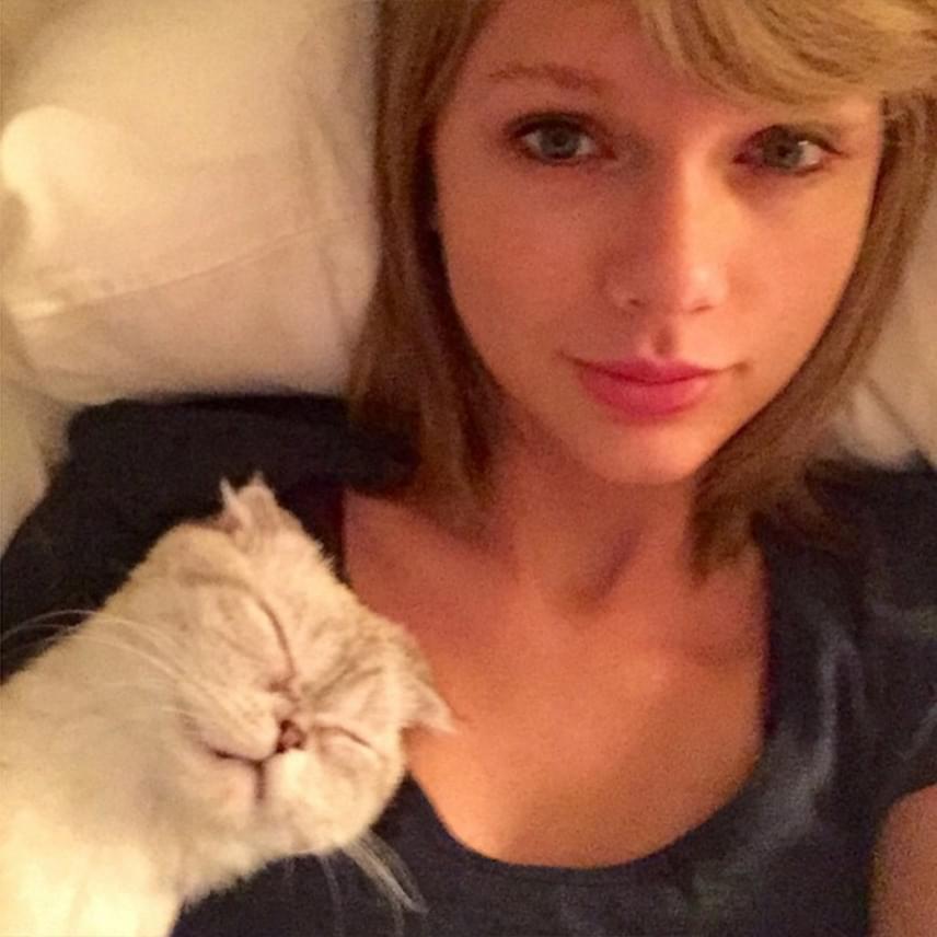 Taylor Swift ugyan gyakran tesz fel sminkmentesként megjelölt fotókat magáról, mégsem mindig hiszünk neki egészen. Ezen a képen például a szeme körül és az ajkain is inkább halovány, természetes smink van, mint natúr tökéletesség, ám trükkös fotóinak bedőlve mégis nagyon sokan bálványozzák és irigylik szépségéért.