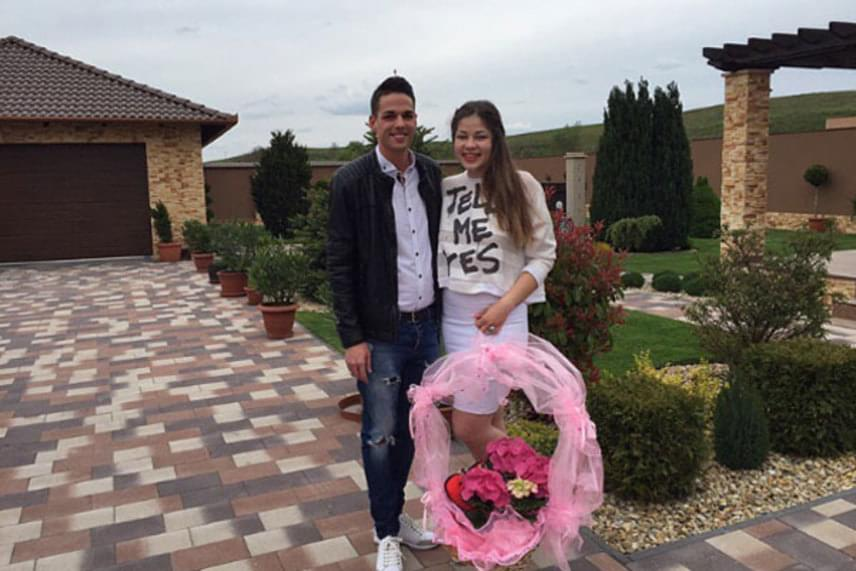 Gáspár Evelin május 1-jén vállalta fel ország-világ előtt, hogy szerelmes a képen látható fiatalemberbe.