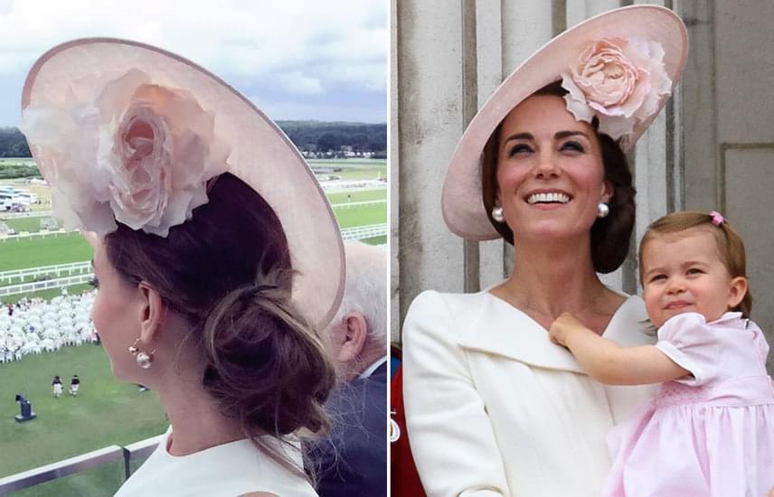 Vajna Tímea ügyelt a részletekre: nemcsak a kalap egyezik, hanem a frizura és a fülbevaló is.