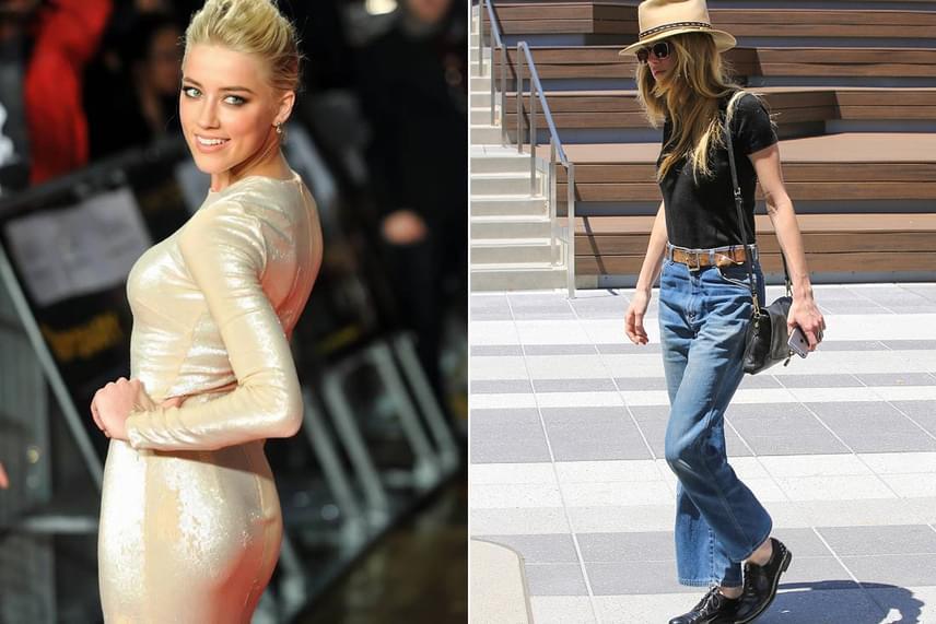 Amber Heard karján látszik legjobban a változás: a színésznő ijesztően vékonyra fogyott alig néhány hét alatt, ruhái is csak lötyögnek rajta.