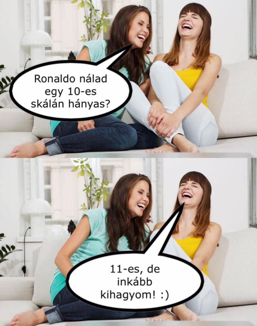 Kasza Tibi szeret vicces dolgokat posztolni, naná, hogy Ronaldo hisztije mellett sem ment el.