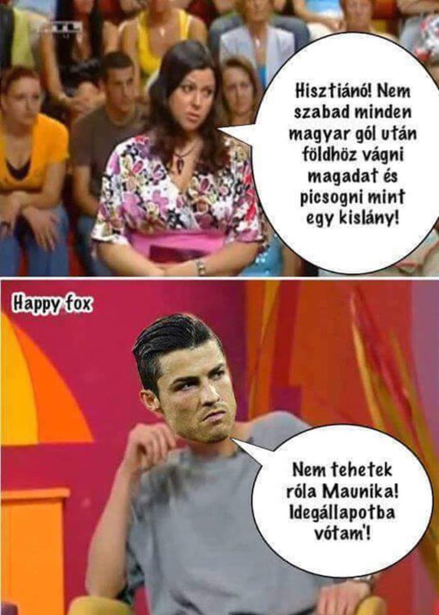 """Már vártuk, mikor szedik elő a Ronaldo-mémekhez a Mónika Show egyik legemlékezetesebb momentumát, vagyis amikor az egyik szereplő közölte Erdélyi Mónikával: """"nem tehettem róla, Mónika, idegállapotba voltam""""."""