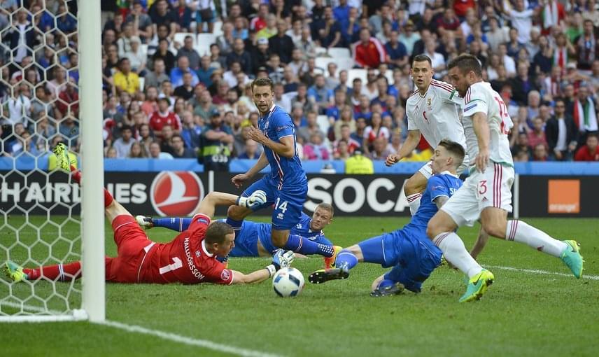 Éppen egyenlítünk Izland ellen, ami nagyon nem volt mindegy a csoport végeredményének szempontjából.