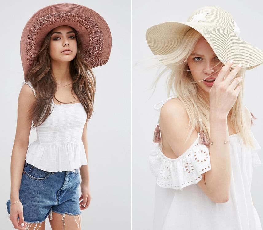 A hatalmas karimával rendelkező kalapok nemcsak nagyon jól néznek ki, de a válladat is óvják a nap sugaraival szemben. Sajnálatos mellékhatás, hogy a férfiakat is távol tartják, hiszen elég komoly macera a jókora ív alól csókot lopni.