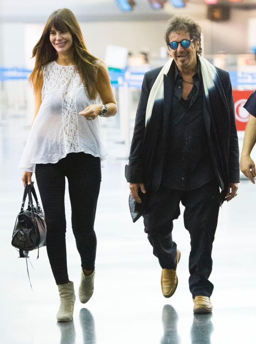 Nem számít a köztük lévő korkülönbség, sem a magasság: Al Pacino és Lucila Sola több mint hét éve imádják egymást.