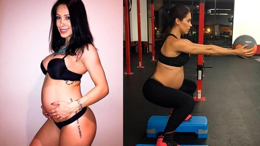 Hogy egy harmadik példát is hozzunk, a brazil fitneszmodell, Bella Falconi is támadások célpontja lett, amikor pocakkal edzős képeit feltöltötte a netre.                         A kíméletlen kritikák okozta stressz káros a terhességre, nem az edzés. Alkata válogatja, kinek milyen a pocakja, és aki fitten élt korábban, és így éli meg terhességét is, jó eséllyel rendelkezhet izmosabb, kisebb babapocakkal. A lényeg, hogy a kicsi egészségesen szülessen meg.