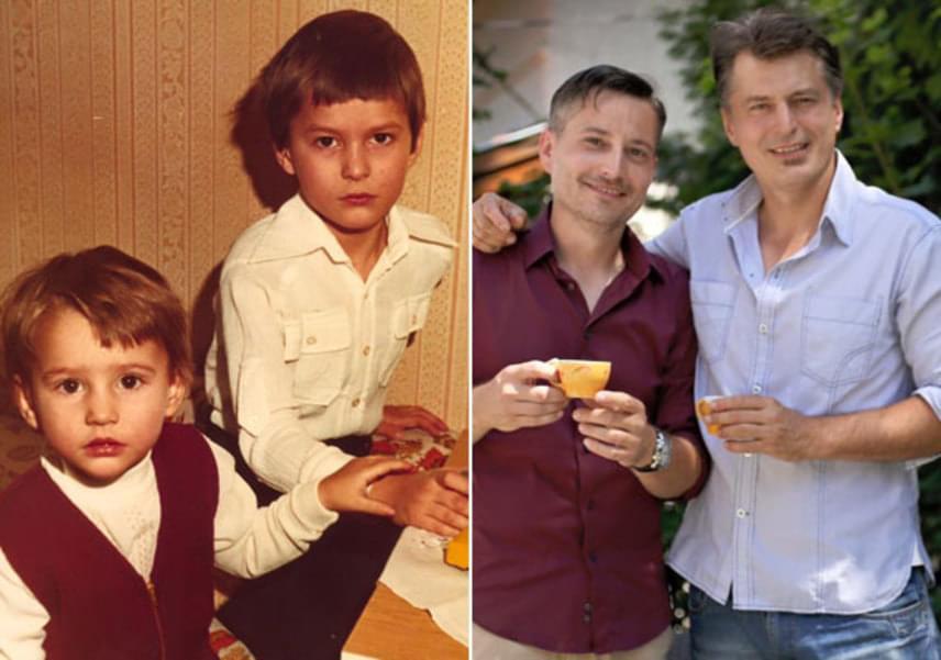 """""""Mindig kisebb volt nálam, törékeny, anyu szeme fénye"""" - jellemezte öccsét a 45 éves Homonnay Zsolt, aki jó kapcsolatban van Viktorral."""