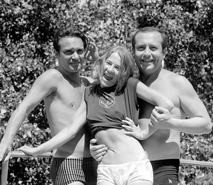 Egy ritka fotó a három kollégáról és barátról: Tordy Géza, Törőcsi Marik és Kállai Ferenc 1968-ban Balatonfüreden.