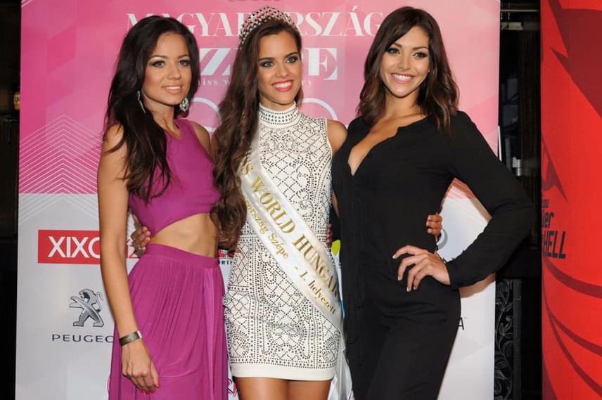 Kiss Daniella a 2015-ös, Gelencsér Tímea a 2016-os és Kulcsár Edina a 2014-es Miss World Hungary a Magyarország Szépe after partiján - sokak szerint Edina nyomába se érnek az utódai.