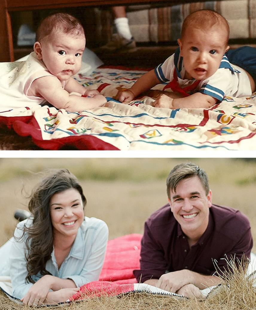 Aubrey és Mike együtt nőtt fel. 1989-ben 11 nap különbséggel jöttek a világra. Amikor anyukáik egymás mellé tették őket a rugdalózón, még nem sejthették, hogy 2012-ben randizni kezdenek, majd 2015-ben házasságot kötnek. Kettejük története valóban egy életen átívelő történet.