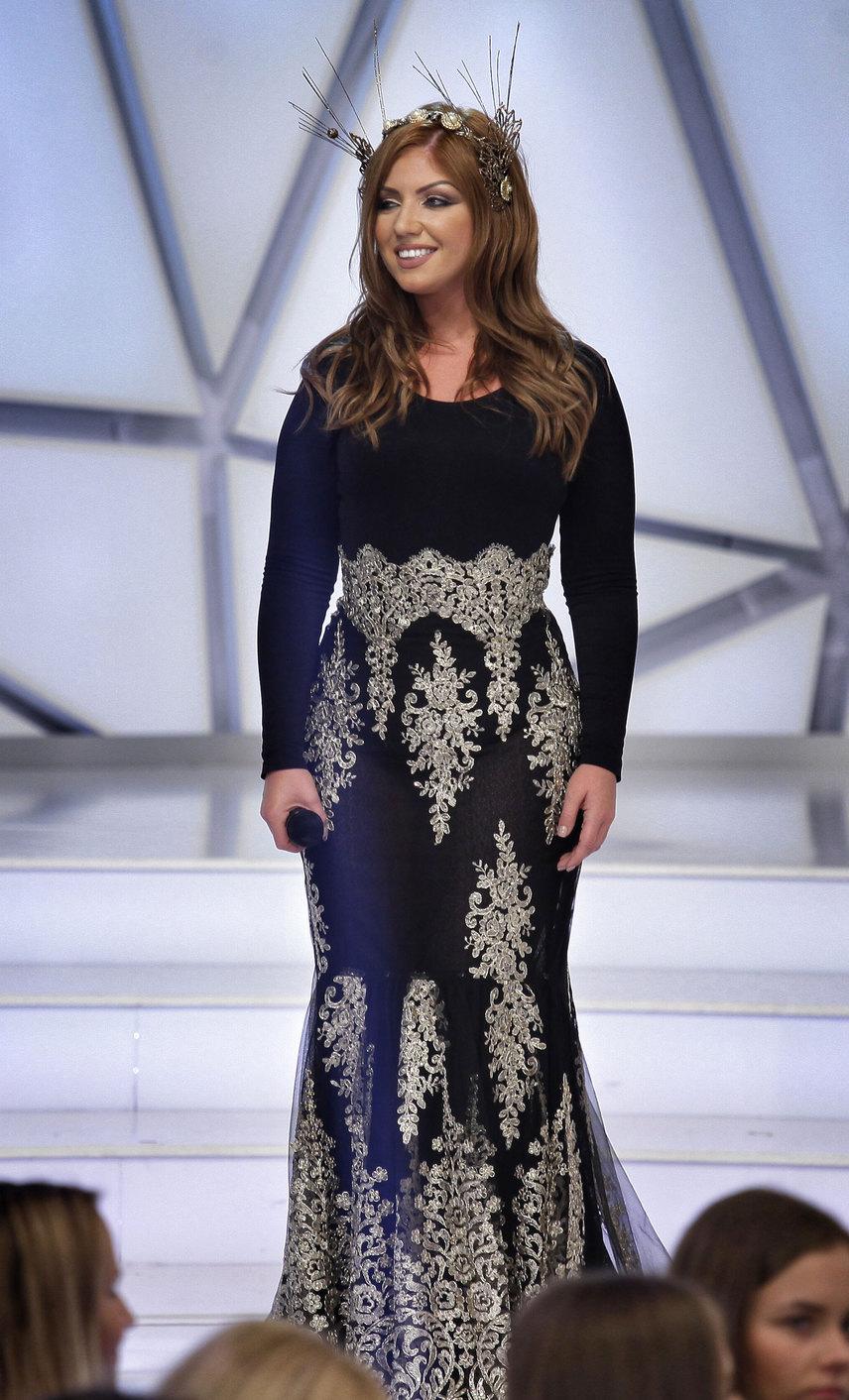 A kreáció a Kulcsár Edina Showroom egy darabja, a 2014-es Miss World Hungary tervezte.