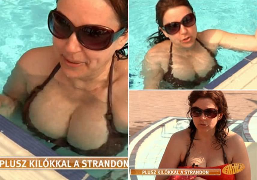 Tavaly júliusban a TV2 Aktív című műsorának kamerái a strandra is elkísérték - a nézők rögtön kiszúrták a tévés kebleit.