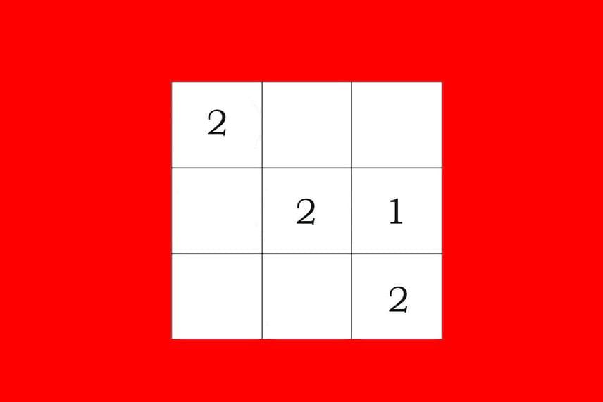 Bűvös négyzetMilyen számok kerüljenek az üres négyzetekbe, hogy a szorzatuk vízszintesen, függőlegesen és átlósan is mindig nyolc legyen?