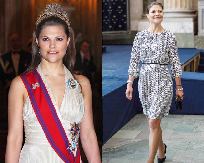 Viktória hercegnő sokáig volt nádszálkarcsú, 40. születésnapja közeledtével azonban rá is felszaladt néhány pluszkiló. Sokak szerint a svéd hercegnő azóta sokkal boldogabbnak és kiegyensúlyozottabbnak tűnik.