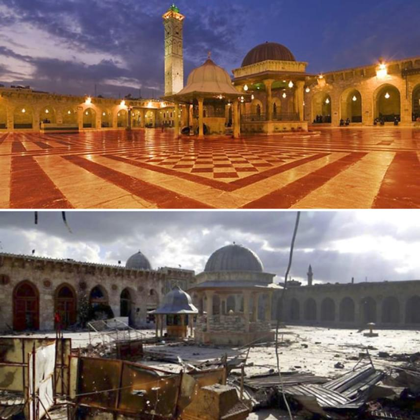 A mecset sem maradt épen.