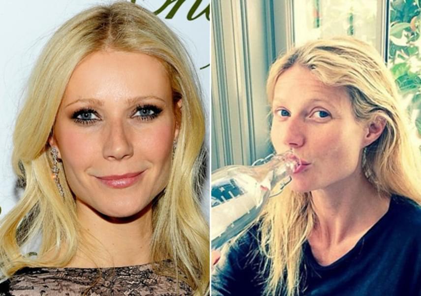 Gwyneth Paltrow gyakran mutogatja natúr arcát Instagram-oldalán. A vörös szőnyegen sem viszi túlzásba a smink viselését: a kevesebb néha több elv híve.