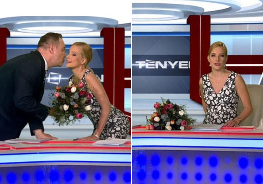Várkonyi Andreát híradósként utoljára április 29-én láthatták a nézők. Pachmann Péter puszival és virágcsokorral köszönt el kolléganőjétől a Tények végén.