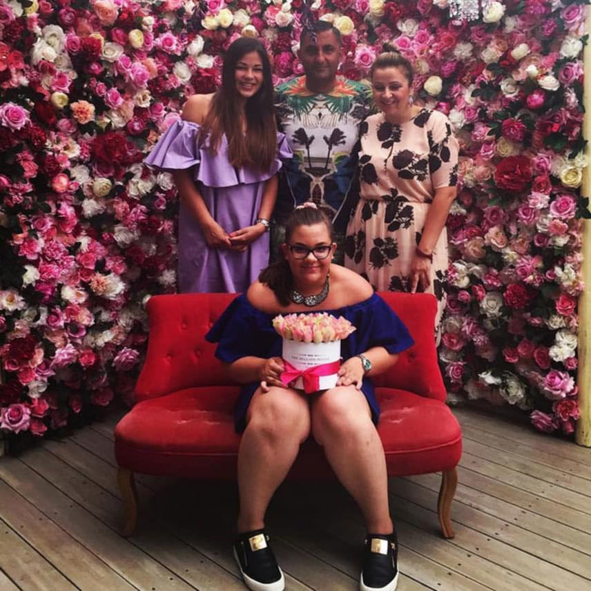 Gáspár Virág 2015 júliusában, a 13 születésnapján - ekkor még jelentős túlsúllyal küzdött.