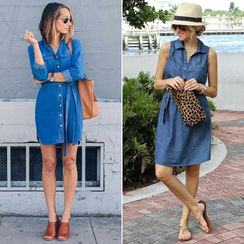 A legpraktikusabb nyári viselet a farmerruha, mert kényelmes, lenge és nagyon stílusos. Az egyszerű ingruha és a nőiesebb szabású, karcsúsított fazon is jó választás.