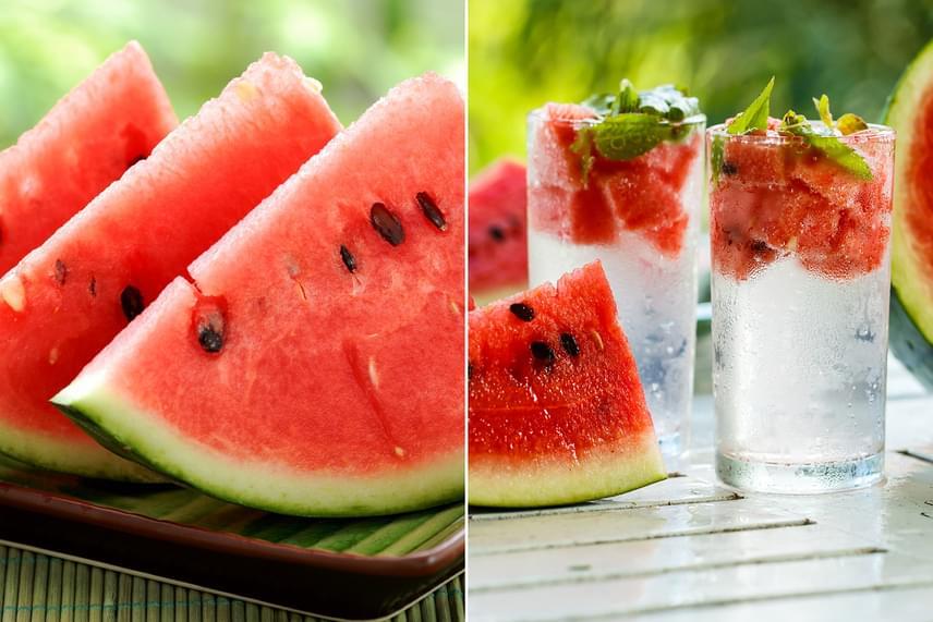 A dinnye vízhajtó tulajdonságának köszönhetően az emésztésedet leterhelő ételek gyorsabban távoznak a szervezetedből. Különösen érdemes fogyókúrához is jól használható ízesített vizet készíteni dinnyekockákkal és bazsalikommal, melyeket ha fél órára beáztatsz, már kész is van a fúvódásellenes italod. Igyál legalább egy-másfél litert belőle minél hamarabb!