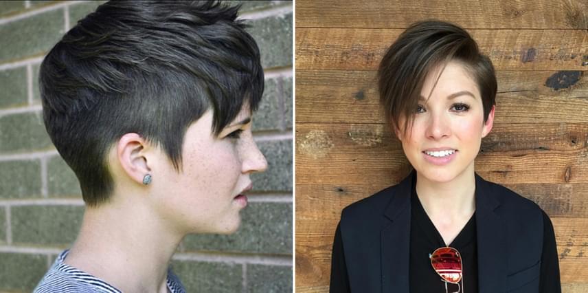 Ha sokat mosol hajat, nagyon megkönnyíti a dolgodat egy rövidre vágott fazon. Az oldalt néhány centis, visszavágott részen szinte nem is látszik, hogy nem frissen mosott, míg a hosszabb frufrut könnyen rendben tarthatod száraz samponnal. Mivel az aszimmetrikus fazonoknál a frufru viszonylag sok hajból áll össze, a tartását is jobban megőrzi a frizura, ám legalább kéthavonta egy kis igazítást igényel.