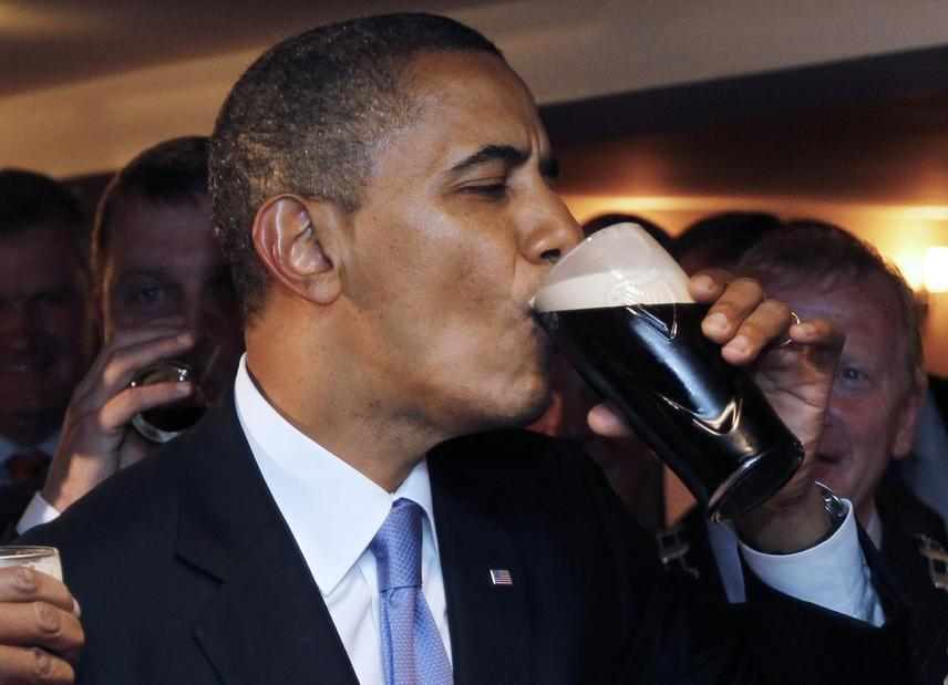 Minden bizonnyal Barack Obama, az Amerikai Egyesült Államok 44. elnöke a Guinness sör legbefolyásosabb rajongója az egész világon.