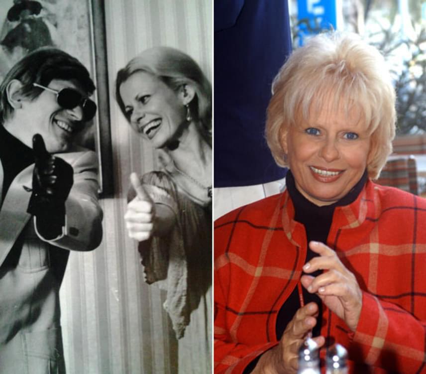 A bal oldali képen Harsányi Gáborral bolondozik valamikor a hetvenes években. Esztergályos Cecília mostanra sem veszített semmit szépségéből és bájából.