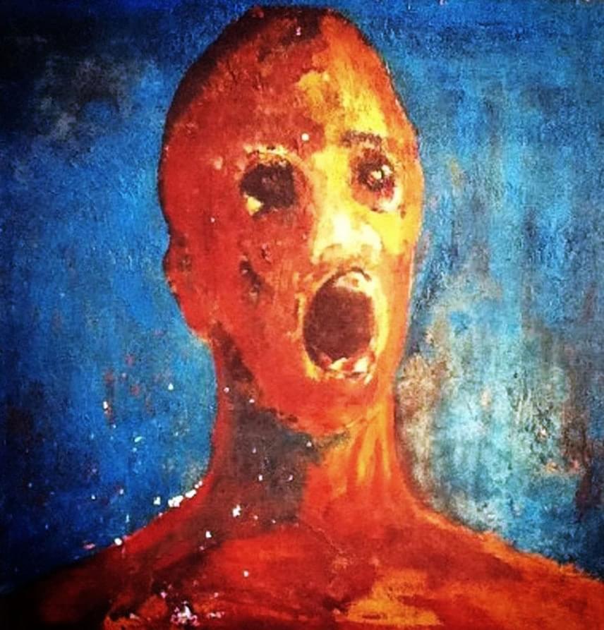A The Anguished Man, azaz A meggyötört férfiRánézni is hátborzongató a festményre, amely 25 éven át Sean Robinson, vagyis jelenlegi tulajdonosa nagymamájának a pincéjében volt. Robinson nagymamája sokat mesélt a képről, például azt, hogy a festője a saját vérét keverte a festékbe, majd a mű elkészültével öngyilkos lett. Azt is mesélte, sikolyokat, zokogást hallottak, amikor a festményt megnézték, és egy árnyékot is láttak körülötte, amely feltehetőleg a festő lelke lehetett. A paranormális jelenségek miatt került a kép évtizedekre a pincébe, majd a nagymama 2010-es halálakor Robinson magához vette. Ettől kezdve családjában furcsaságok történtek: felesége úgy érezte, húzgálja valaki a haját, gyermekük balesetet szenvedett, mintha láthatatlan erő lökte volna le a lépcsőn, zokogást és sikolyokat hallottak a lakásban, és a titokzatos árnyat is látni vélték. A festményt eladni az azt uraló sötét erőktől tartva Robinson mégsem meri, ám bizonyítandó a paranormális jelenségeket, nyolc óra hosszára kamerát helyezett a kép elé. A felvételt ide kattintva megnézheted: elképesztő, amit rögzített.