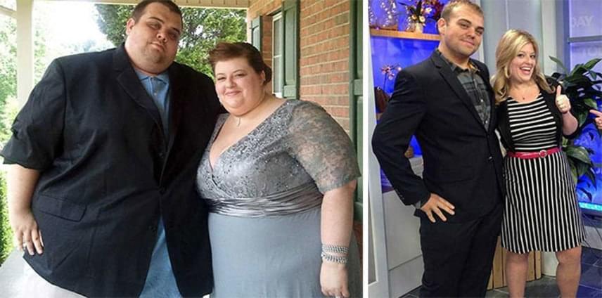 Ez a tennessee-i pár összesen 244 kilót fogyott. A kép magáért beszél, egyszerűen lenyűgöző a változás.