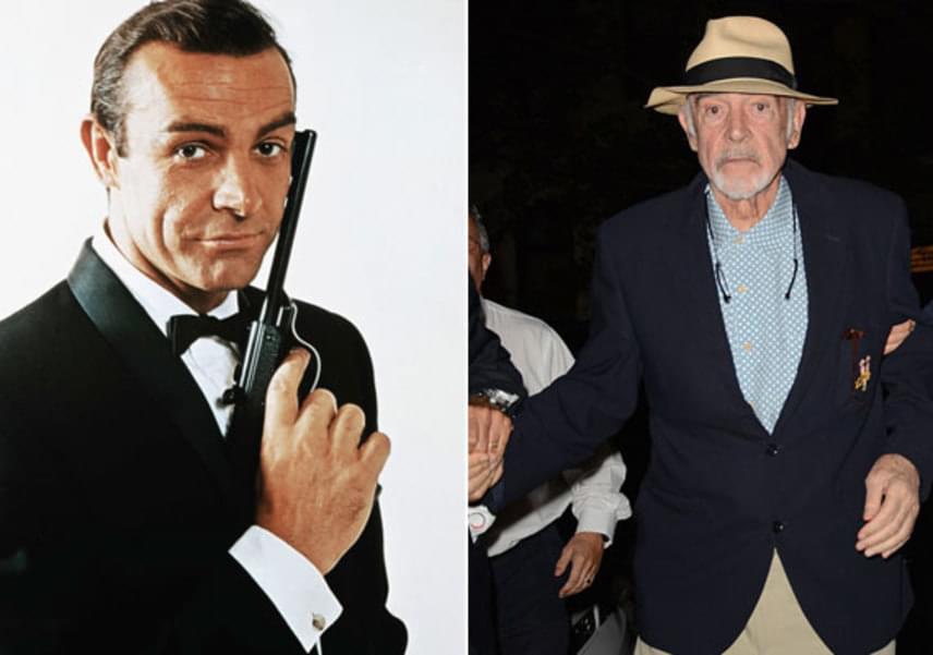 Sean Conneryt a US Open teniszbajnokságon kapták lencsevégre, fotóján azonban alig lehetett felismerni, úgy megváltozott az egykor sármos James Bond.