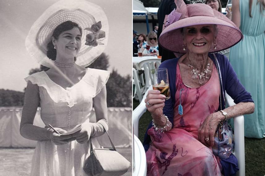 A szupermodell rajongása a nőies szabásokért és a kalapokért állandó, akárcsak a mosolya, amely számos fotóst elbűvölt a szakmában töltött évtizedek során.
