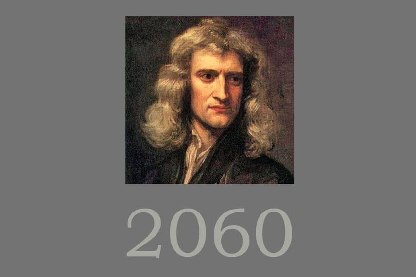 Sir Isaac NewtonHogy ne csak ma élő tudósok elméleteit tolmácsoljuk, Sir Isaac Newton fizikus világvége-elmélete szerint az ítéletnap a 2060-as esztendőre jósolható. Ő, hasonlóképpen az előző elmélet megalkotójához, a Bibliára hivatkozik fejtegetésében. Elmélkedésében azt írta, az apokalipszis időpontja a Római Birodalom alapítását követően 1260 évvel fog elérkezni. Mivel az alapítás időszámításunk szerint 800-ban volt, a világvége 2060-ban következhet be.