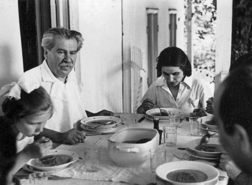 A XX. századi realizmus írójaként számon tartott Móricz Zsigmond kusza családi háttere kevesek számára ismert. Első feleségétől három gyermeke született, Janka azonban féltékenység miatt öngyilkos lett. Móricz később feleségül vette a féltékenység okát, Simonyi Máriát, azonban elváltak, és leányfalui házába vonult vissza. Szeretőjét, a képen vele együtt látható Csibét az öngyilkosságtól mentette meg. Románcuk után a lány a háztartást vezette, az író pedig őt és fiát is gyermekévé fogadta.