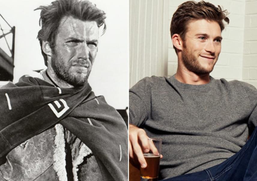 Ez aztán a hasonlóság! Első ránézésre csak a fotó minőségéből lehet megállítani, hogy melyikük Clint és melyikük Scott Eastwood.