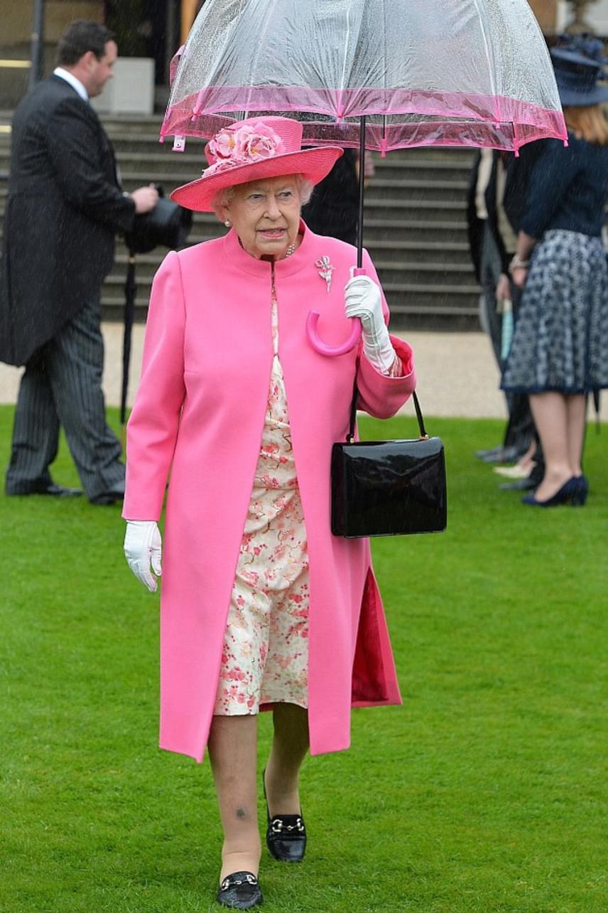 Erzsébet királynő a részletekre is mindig ügyel, például fontos, hogy esernyői is színben passzoljanak az öltözetéhez. Külön cég foglalkozik ezzel, akik előre megkapják a színmintát az uralkodónő ruhájából, hogy elkészíthessék időre a kért ernyőt.